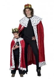 Koningsmantel rood deluxe