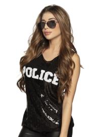 Topje paillet police