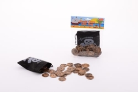 Piratenbuidel met munten