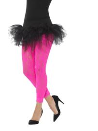 80's Legging kant neon pink