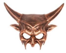 Oogmasker devil brons