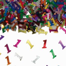 Tafeldecoratie / sier confetti 1 jaar