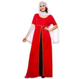 Middeleeuwse dame rood