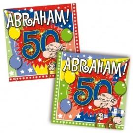 Servetten Abraham 50 jaar
