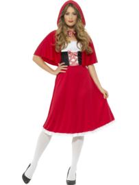 Roodkapje lang jurk