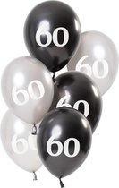 Ballonnen Glossy Black 60 Jaar
