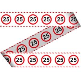 Markeerlint 25 jaar verkeersbord