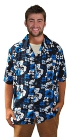 Hawai shirt Shiney Blue