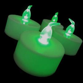 LED kaarsjes groen per 12
