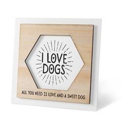 Houten Fotolijstje - Dog  