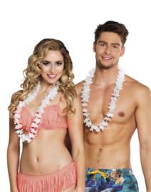Hawaii krans wit easy 100 stuks