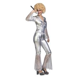 Disco silver kostuum
