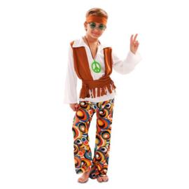 Hippie kostuum jongen