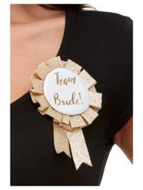 Team bride button rose gold