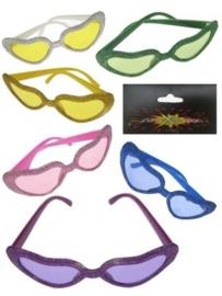 Glitterbril hart model