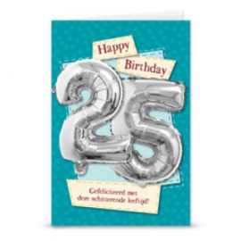 Leeftijd ballonnen kaart 25 jaar