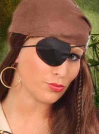 Ooglap met oorring piraat