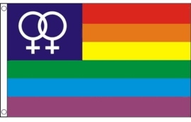 Vlag Rainbow Venus 90x150cm