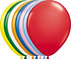Kwaliteitsballon metallic multi 50 stuks