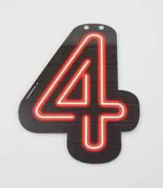 Neon cijfer 4