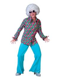 Disco broek glitter blauw