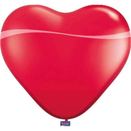 Hartenballonnen Rood