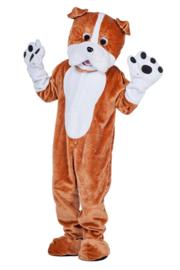 Bulldog kostuum mascotte pro