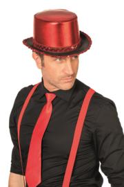 Hoge hoed rood luxe