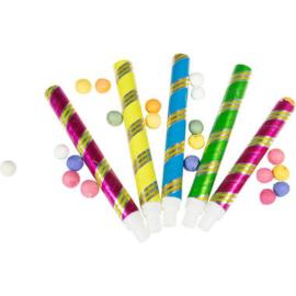 Blaaspijpjes met 100 ballen 16cm - 5 stuks