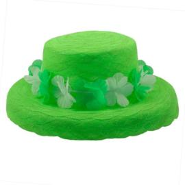 Neon groen zomer hoed