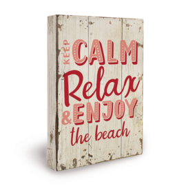 Houten beach bord keep calm