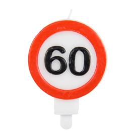 Kaarsjes 60 jaar verkeersbord