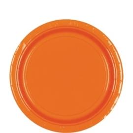 Oranje bordjes