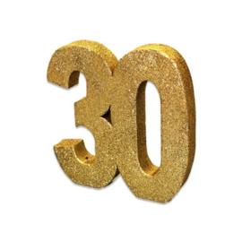 Tafeldecoratie 30 glitter goud