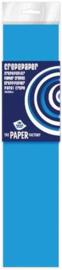 Crepe papier midden blauw