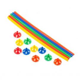 10 ballon sticks 40cm multicolor