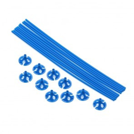 10 ballon sticks 40cm blauw