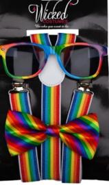 Regenboog verkleed set
