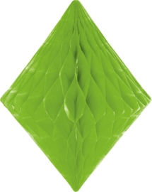 Honeycomb diamant lime groen