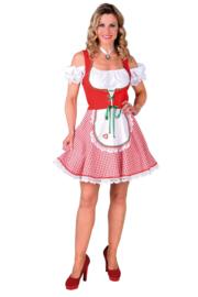 Tiroler jurkje rood wit