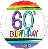 Folieballon rainbow '60' (43cm)