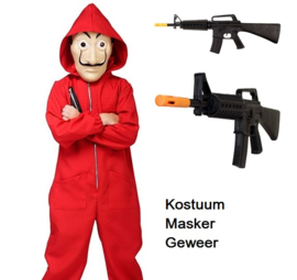 La casa de Papel kinderkostuum met masker en geweer