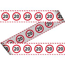 Markeerlint 20 jaar verkeersbord