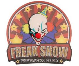 Deurbord sign freak show LED