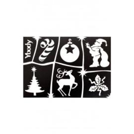 A5 stencil Christmas Y body