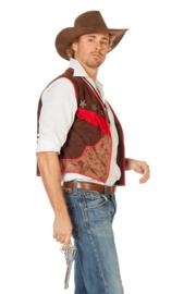 Cowboy vest Wasleder