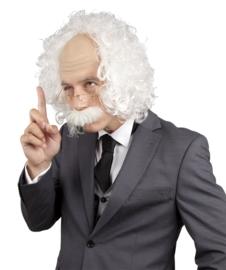 Einstein pruik (met bril en snor)