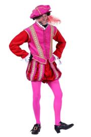 Pieten kostuum fluweel pink