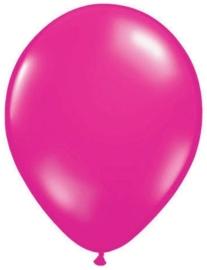 Kwaliteitsballon metallic magenta 10 stuks