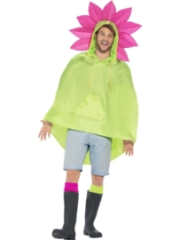 Party poncho bloem